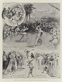 """Scenes from the Pantomime of """"Robinson Crusoe,"""" at the Theatre Royal Drury Lane"""