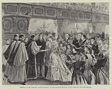 Wedding of Mr Asquith, Home Secretary, to Miss Margot Tennant, at St George's, Hanover Square