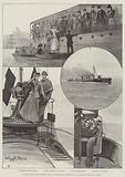"""Trial Trip of the """"Hornet,"""" the New Torpedo-Boat Destroyer, at Gravesend, Saturday, 9 June"""