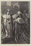 The Coronation of the Czar, Congratulations after the Crowning Ceremony, the Czar kissing his …