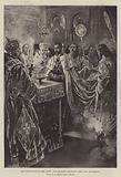 The Coronation of the Czar, the Emperor receiving the Holy Sacrament