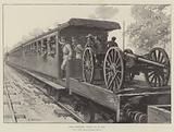 State Artillery coming up by Rail