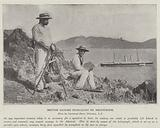 British Sailors signalling by Heliograph