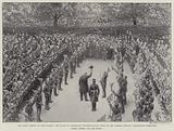 The Home-Coming of the Guards, the Duke of Cambridge congratulating them on the Parade-Ground …