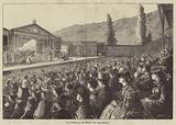 The Audience at the Passion Play, Ober-Ammergau