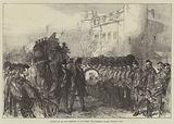 Funeral of Sir John Burgoyne at the Tower, the Procession passing Traitors' Gate