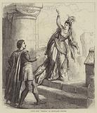 """Scene from """"Rebecca,"""" at Drury-Lane Theatre"""