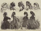 Paris Fashions, Head-Dresses and Mantles