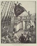 Capture of a Devil-Fish, hoisting him overboard