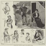 """Sketches from """"The Good Old Times,"""" at the Princess's Theatre"""