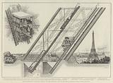 The Otis Elevator in the Eiffel Tower of the Paris Exhibition, built by the American Elevator …