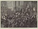 Entry of the King of Italy into Berlin, Procession passing the German Artists' Verein, Unter den Linden