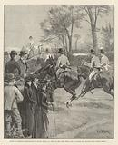 House of Commons' Steeplechase at Rugby, 29 March, Rush at the First Fence, Mr AE Pease, MP …