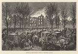 Burning of the Lunatic Asylum at Montreal, Canada