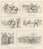 Sketches at the Royal Military Tournament, Agricultural Hall, Islington