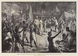 Meeting of Emin Pasha and Mr Stanley, 29 April 1888, at Kavalli, on Lake Albert Nyanza
