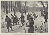 The March of the 5th Prussian Rifle Battalion on Snow-Shoes through the Giant's Mountains, Silesia