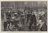 His Highness the Shahzada Nasrullah Khan on his Visit to the Guildhall, on 6 June, Presentation …