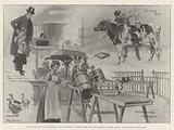 The Show of the British Dairy Farmers' Association at the Agricultural Hall, Incidental Sketches