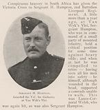 Sergeant H Hampton, awarded the VC for Gallantry at Van Wyk's Vlei
