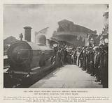 The New Great Western Railway Service from Penzance, the Mayoress starting the First Train