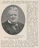 The late Mr Samuel Pope, KC, Recorder of Bolton