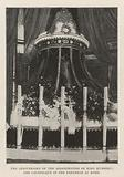 The Anniversary of the Assassination of King Humbert, the Catafalque in the Pantheon at Rome