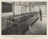 Railway Signals worked by Compressed Air, the Low-Pressure Pneumatic Interlocking Frame at Grateley Station