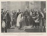 The Chinese Expiatory Mission to Germany, the Kaiser receiving Prince Tchun in the New Palace …