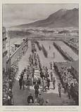 Cape Town's Last Farewell to Cecil Rhodes, the Cortege arriving at Cape Town Station to join …