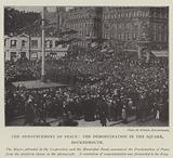 The Announcement of Peace, the Demonstration in the Square, Bournemouth