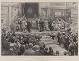 The Accession of the King of Spain, Alfonso XIII taking the Oath before the Cortes at Madrid, 17 May