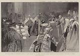 The State Opening of Parliament, 16 January, King Edward VII and Queen Alexandra passing through …