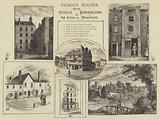 Famous Houses, Some Pictorial Rememorations of Old Actors and Dramatists