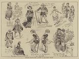 """Character Sketches from """"Olivette,"""" at the Strand Theatre"""