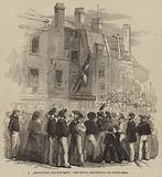 Recruiting for the Navy, the Naval Rendezvous on Tower-Hill