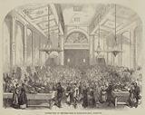 Distribution of Christmas Fare at Myddleton Hall, Islington