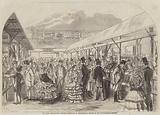 The Royal Agricultural Society's Exhibition at Chelmsford, a Sketch in the Cattle-Yard