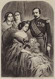The Return of the French Court to Paris, Napoleon III, Eugenie, and the Infant Prince