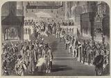 The Coronation of the Emperor Alexander II of Russia, in the Cathedral of the Assumption …