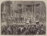 Midnight Mass on Christmas Eve at the Roman Catholic Chapel, Moorfields