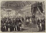 New-Year's Day in Paris, the Reception of the French Senate by the Emperor Napoleon III