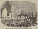 Reception of the New Lieutenant-Governor of the Isle of Man, the Procession passing up Prospect Hill, Douglas