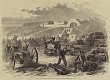 French Troops getting Artillery into Position at Fort St Julien, near Metz