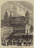 Metz in War Time, Scene outside the Hotel de Metz