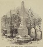 Monument to Defoe recently erected in Bunhill-Fields Burying-Ground