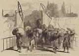 French Soldiers carrying Baggage into Metz before the Siege