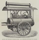Montel and Vendome's Portable Engine, mounted, and ready for transit