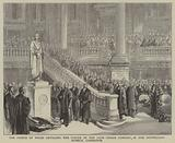 The Prince of Wales Unveiling the Statue of the Late Prince Consort in the Fitzwilliam Museum, Cambridge