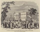 The Viceroy of Egypt and his Suite Drawn through Cairo, by a Boydell's Traction Engine, Presented to him by her Majesty's Government